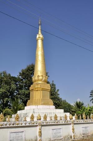 Pagoda Local Outdoor Rural Laos Gold