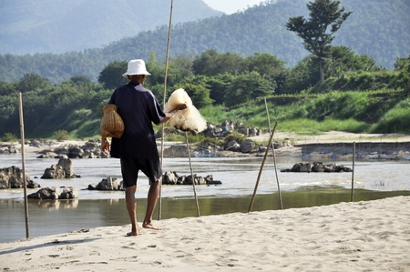 Uncle Man Net Thailand Fisher Local photo