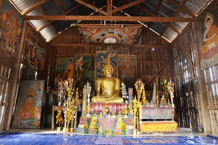Old Buddha Style Asia Antique Native Stock Photo
