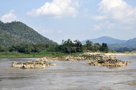 Stone Rock Asia Mountain River Outdoor Stock Photo