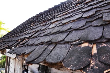 Clay Roof Tile Top Curve Antique Stock Photo