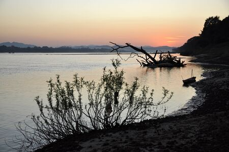 Landscape Sunset Thailand River Nature View