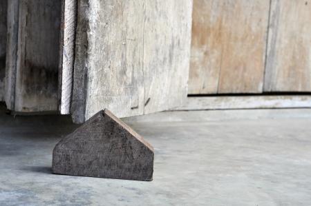 Wood Block Old Door Pentagonal
