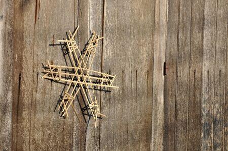 Amulet Door Wood Bamboo Weave