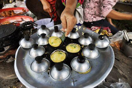Dessert Mortar Cooking Market Pan Thailand