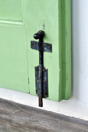 Hasp Door Rust Green Old Retro Stock Photo - 17127633