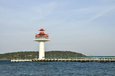 Lighthouse Chinese Day New Style Stock Photo