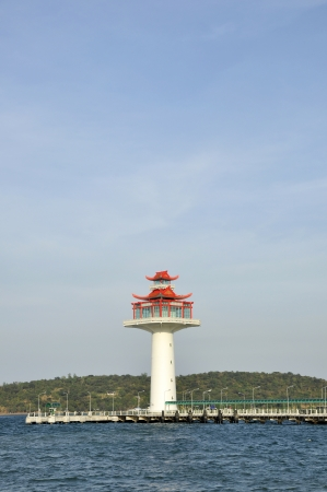 Lighthouse Day Chinese New Style Stock Photo