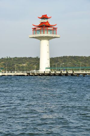 Lighthouse Day Style Chinese New Stock Photo
