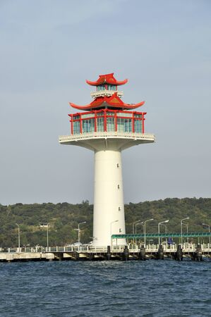 Lighthouse New Chinese Style Day Stock Photo - 17127631
