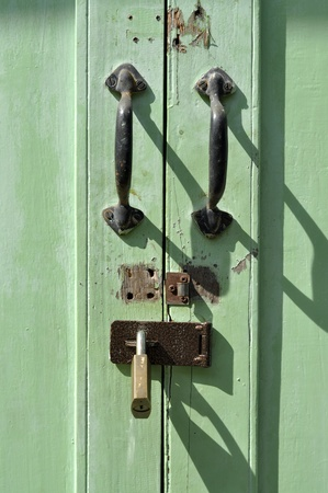 Handle Door Brass Key Old Retro photo