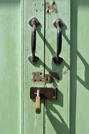 Handle Door Brass Key Old Retro Stock Photo
