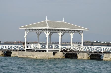 Old Sea Pavilion Sky Wood