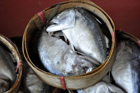 Mackerel Fish Basket Thailand Bamboo