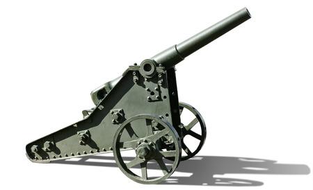 light cannon on white background photo