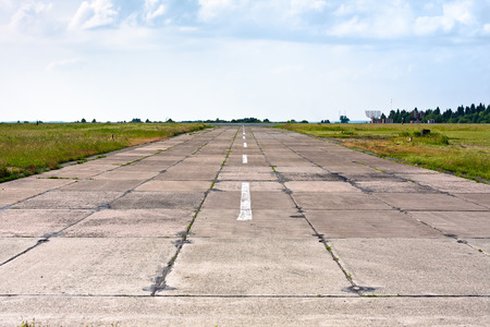the concrete runway at the old airdrome