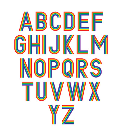 A Vector rainbow alphabet.