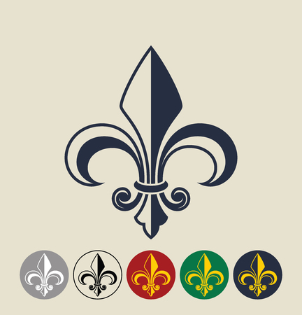 Fleur de Lis. Vector illustration Illustration