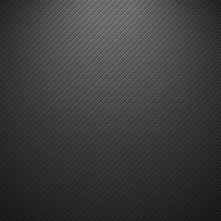 Vector carbon fiber texture. Dark background with lighting. Illustration
