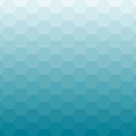 Abstract blue background with hexagons vector illustration.