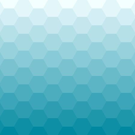Abstract blue background with hexagons. Vector illustration. Stock Illustratie