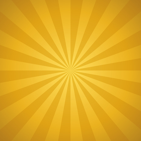 Vector golden sunburst background. Abstract background with rays.