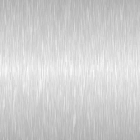 Textura de metal pulido sin costuras. Vector fondo de acero con arañazos.