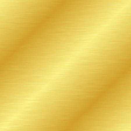 Nahtlose Textur aus gebürstetem Metall. Vektorgoldener Hintergrund mit Kratzern.