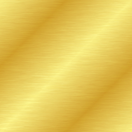 Seamless brushed metal texture. Vector golden background with scratches.