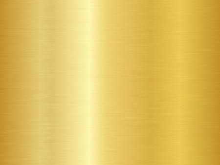 Gebürstete Metallstruktur. Vektorgoldener Hintergrund. Nahtlose Goldmetallbeschaffenheit. Vektorgrafik