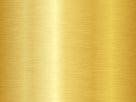 Struttura in metallo spazzolato. Fondo dell'oro di vettore. Struttura del metallo oro senza soluzione di continuità. Vettoriali