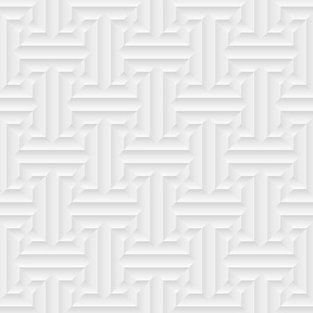 Vector modern seamless pattern. Volumetric geometric pattern Illustration