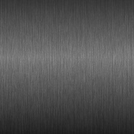 Dunkler Metallhintergrund. Textur aus gebürstetem Stahl. Vektor-Illustration.