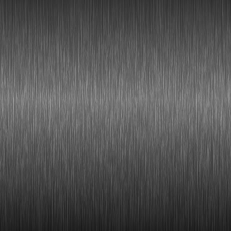 Fond en métal sombre. Texture en acier brossé. Illustration vectorielle.