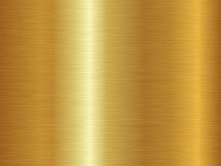 Geborsteld metalen textuur. Vector gouden achtergrond. Naadloze gouden patroon.