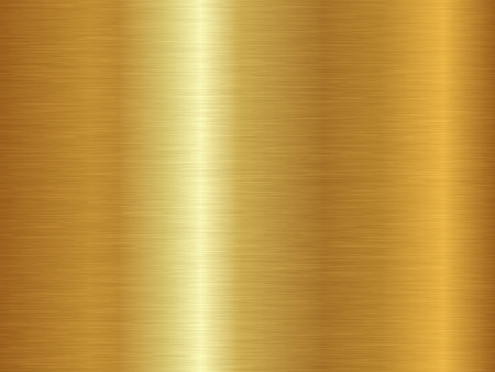 Struttura in metallo spazzolato. Fondo dell'oro di vettore. Modello oro senza soluzione di continuità.