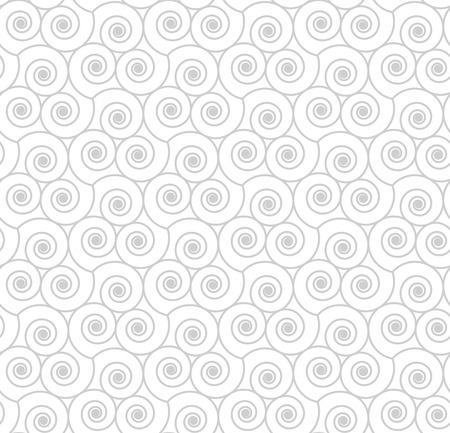 Seamless geometric pattern with swirls. Vector illustration