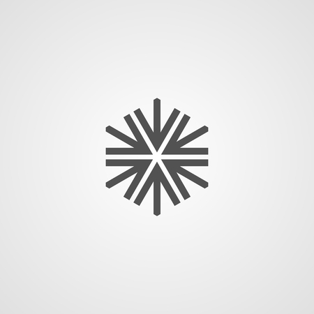 Vector isolated snowflake icon. Logo for your design