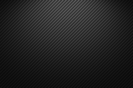 Textura de fibra de carbono de vector. Fondo oscuro con iluminación. Ilustración de vector