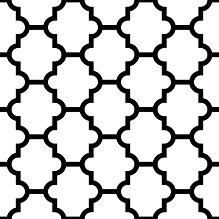 Vector seamless geometric pattern. Monochrome simple classic tiled texture. Illustration