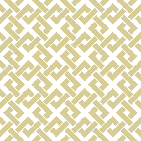 Geometric gold pattern. Seamless vector braided linear pattern. Illustration