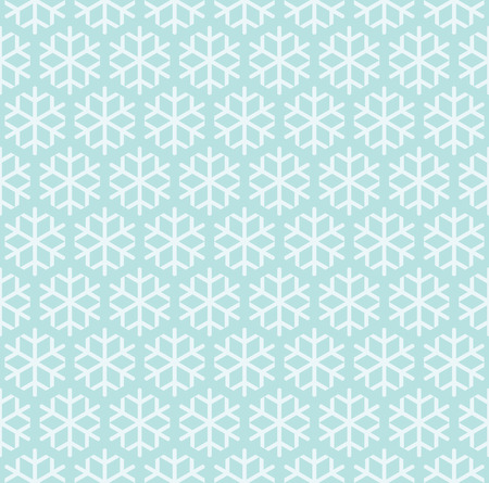 Simple seamless pattern with snowflakes. Vector holiday illustration.