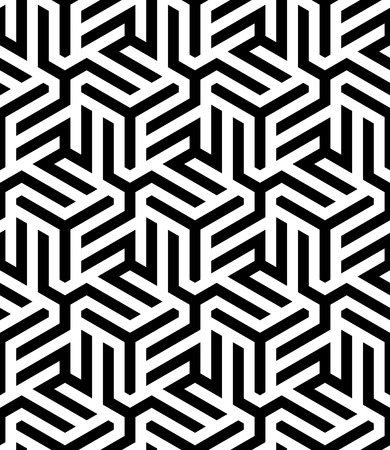 Vector monochrome seamless pattern. Abstract geometric pattern.