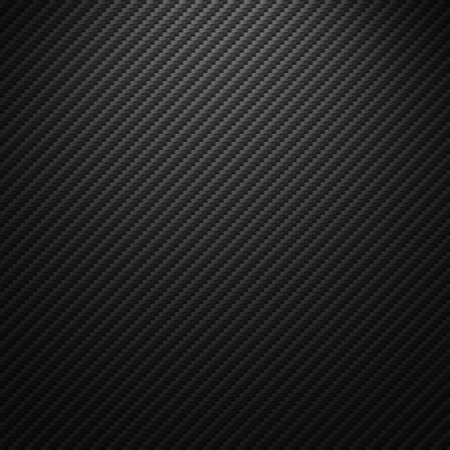 Vector carbon fiber texture. Dark background with lighting. Illustration
