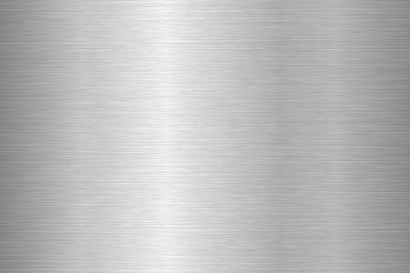 Brushed metal texture. Steel background. Vector illustration. Stock Vector - 114500752