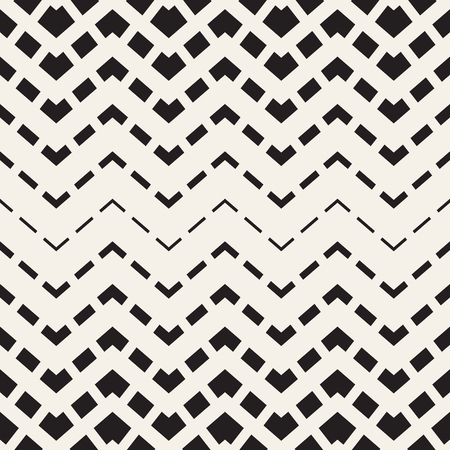Abstract geometric monochrome background. Vector seamless zigzag pattern. Chevron transition texture. Illustration