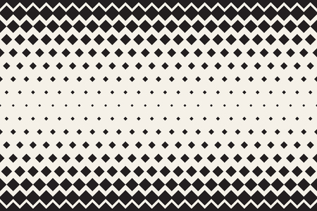 Abstract horizontal monochrome background. Vector seamless geometric pattern. Transition texture with rectangles.