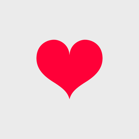 Vector red heart icon. Simple symbol for your design.