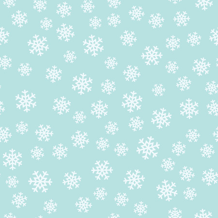 Seamless turquoise pattern with snowflakes. Vector illustration.