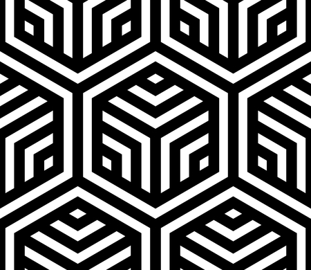 Vector geometric pattern. Seamless braided linear pattern. Illustration